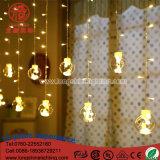 Diodo emissor de luz que ilumina luzes brancas mornas do sincelo da decoração ao ar livre do Natal do gotejamento