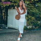 Commerce de gros de l'été Shona Crochet Maxi robe sans manches