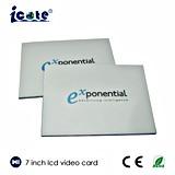 Beste Qualität kundenspezifische in Scheckkartengröße 7 Zoll-PapierVisitenkarte mit LCD