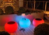 Tabouret en plastique rougeoyant lumineux de virgule de barre des meubles DEL de DEL