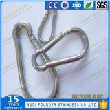 Крюк Ss304 или Ss316 сформированный яичком щелчковый