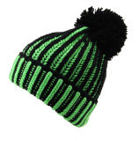 レディースメンズ男女兼用のネオン蛍光球の帽子POMのPOMによって編まれる冬の暖かい帽子の厚い帽子(HW114)