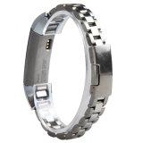 fascia per Fitbit, cinturino di qualità dell'acciaio inossidabile di 12mm d'argento di collegamenti per Fitbit Alta