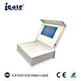Preiswerter Preis passte /Business-videokasten des 4.3 Zoll LCD-videokastens/Geschenk-Video-Kasten an