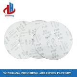 Discos de papel de lixamento para as máquinas de polonês abrasivas com 8 furos