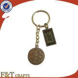 Sostenedor de encargo promocional Keychain del clave de la moneda del recuerdo del encadenamiento dominante del metal