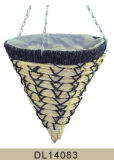 Panier s'arrêtant de maïs de décoration de jardin avec la garniture en plastique