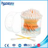 Tampons de coton en plastique de bâton pour le soin de famille