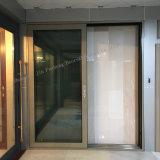 Puerta deslizante de cristal de aluminio de alta calidad con la red del obturador y de la pantalla