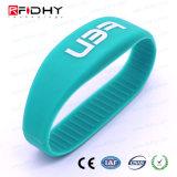 Wristband reescribible del silicón RFID del Hf de la alta calidad para la natación