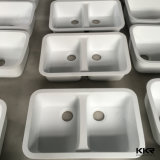 Pedra de resina europeu dissipador de cozinha em mármore para sala de jantar