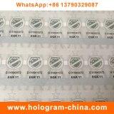 Autoadesivo di carta di timbratura caldo olografico di stampa della fibra