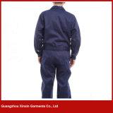 Desgaste feito-à-medida do trabalho da segurança do azul de marinha do algodão da fábrica de Guangzhou (W260)