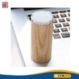 O bambu novo do altofalante de Bluetooth da forma redonda do projeto fêz a Bluetooth o altofalante de madeira sem fio