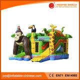 膨脹可能なジャングルのSarafiのスライド(T3615)を持つ跳躍の城の警備員