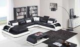 LEDが付いている現代余暇の家具の革コーナーのソファー