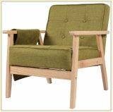 Sola silla moderna de madera del sofá del restaurante de la tela de Seater