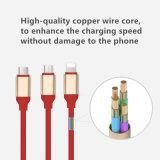 3 en 1 câble de caractéristiques du chargeur/synchro USB pour le téléphone mobile