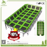 Arena del trampolino di Fliping, sosta a terra di salto del trampolino di sicurezza