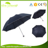 Un ombrello di pubblicità aperto delle 3 volte del manuale leggero per la signora
