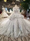 Платье венчания стеклянных бусин втулки серой мантии шарика длиннее