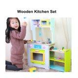 Das hölzerne Kind-Küche-Kochen täuschen Spiel-gesetzte Kind-pädagogische Spielwaren vor