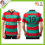 100% Polyester respirante Maillot Rugby vierge adolescent personnalisé Équipe scolaire Rugby Shirt