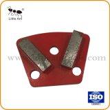Retângulo de segmentos Duplo Piso de concreto de diamantes da placa de moagem
