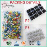 Contactos obligatorios clasificados del empuje de la correspondencia de la oficina de acero principal plástica de los colores