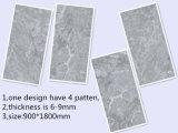 900*1800mmの大理石の一見灰色カラー建築材料の壁および床タイル(H918D002P)