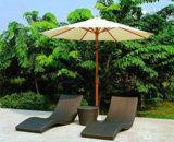 Heiße Verkaufs-Swimmingpool-Strand-Rattan-Freizeit sitzt Aufenthaltsraum Sunbed Strand-Klappstuhl vor