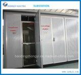Sous-station combinée extérieure/sous-station de transformateur d'alimentation