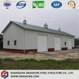 Модульный сегменте панельного домостроения в стальной раме промышленности для хранения зерна пролить