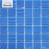 Mattonelle di mosaico di cristallo della piscina di colore blu poco costoso di prezzi