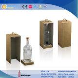 Contenitore di legno di vino dell'involucro del cuoio dell'unità di elaborazione per 1 bottiglia (4592R3)