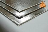 Le balai de délié de miroir a balayé gravé en relief gravent le revêtement Polished d'acier inoxydable