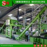 planta de borracha do Mulch de 10-20mm que Shredding e que recicl a sucata/pneu Waste