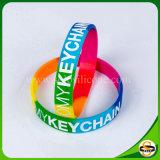 Gedruckter Entwurfs-kundenspezifischer Firmenzeichen-SilikonWristband für Weihnachtsgeschenk