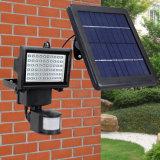 60 lumières solaires extérieures de lumière d'inondation de degré de sécurité de détecteur de mouvement de DEL pour le jardin