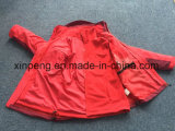 Mujeres calentadas 3 en 1 chaqueta, paño grueso y suave desmontable, chaqueta de la fiebre