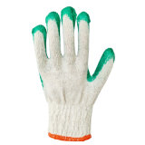 OEM Beschikbare Veiligheid die de Groene Natuurlijke Latex Met een laag bedekte Handschoen van de Kleur werkt