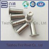 remache de aluminio sólido principal avellanado plano de 6.25X17.5m m