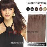 브라운 색깔 가득 차있는 Handtied 기계는 만들었다 머리 연장 (PPG-l-0620)를