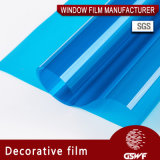 Окно Пленка декоративная пленка высокого качества синего цвета