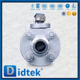 Vávula de bola de flotación del acero inoxidable A105 de Didtek 1inch
