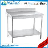 Equipamiento de cocina Cocina Industrial multifunción de la mesa de trabajo con ajuste de tubo redondo de la pierna y barra de refuerzo