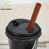 Wegwerfnahrungsmittelgrad-flache gewölbte Plastikkappen mit Luftloch für Kaffee-und Getränkecup