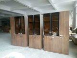 Стеклянный шкаф офиса офисной мебели Woooden Bookcase двери