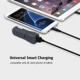 Lader van uitstekende kwaliteit van de Auto van de Haven USB van de Kunst van de Koolstof de Zwart-witte Vierkante Enige 5V 1A