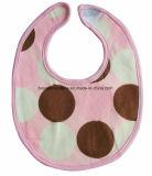 Bib cor-de-rosa impresso costume do bebê de Jersey do algodão do Knit do produto do OEM da fábrica de China para alimentar